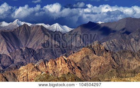 Panoramic Rocky Landscape Of Leh City , Ladakh, Jammu And Kashmir, India