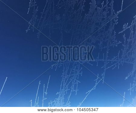 Icy window - background