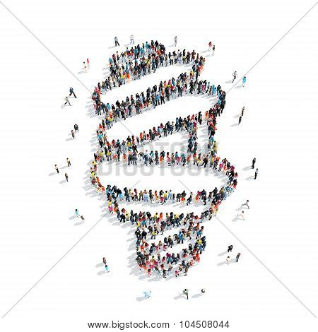 people  shape  lamp cartoon