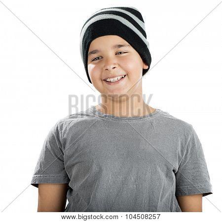 Happy Child Wearing Beanie