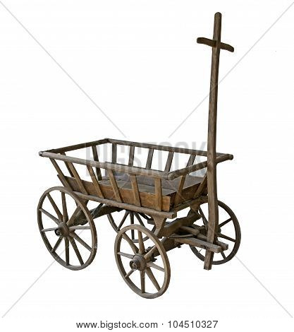 Old dirty Cart with cobweb