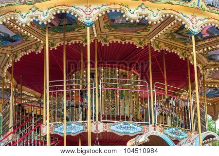 Children Carousel With Horses