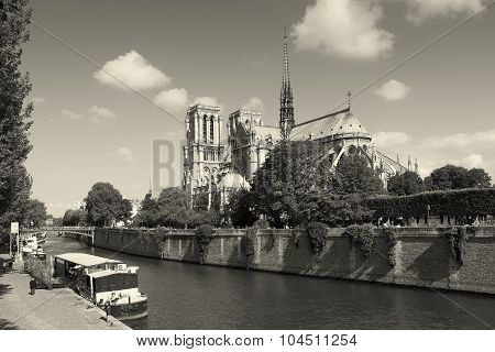 Notre Dame Cathedral, Paris, Ile-de-france, France