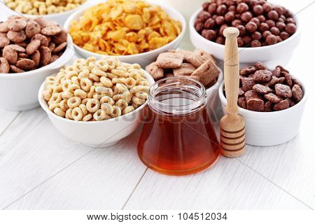 bowl full of various cereals - diet and breakfast