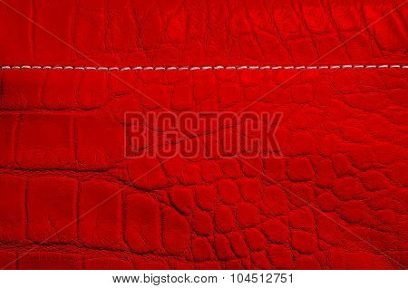 Red pearl texture of reptile skin
