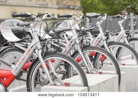 Bicycle parking in Berlin.
