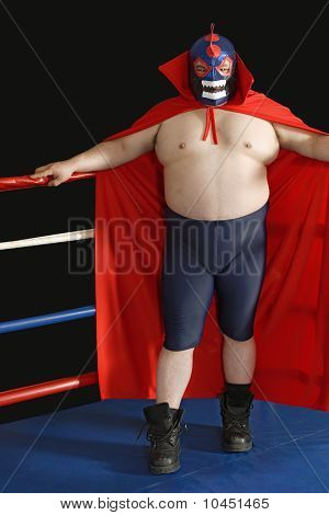 Mexican Wrestler In The Ring