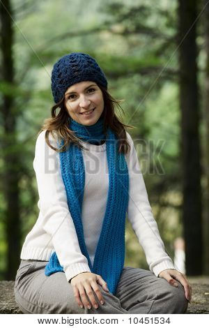 Happy Young Woman In Nature