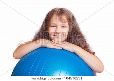 Kid With Big Gymnastic Ball.