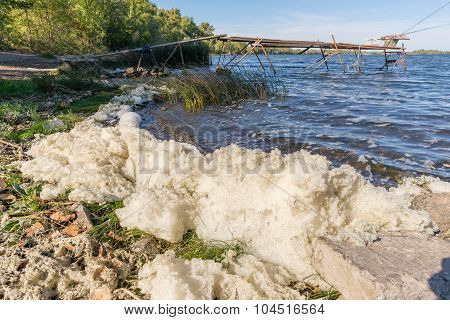 Foam Pollution In The River