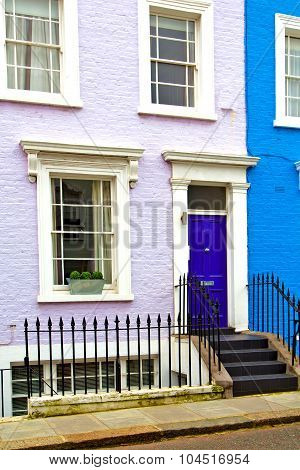 Notting   Hill  Area  In London  And Antique  Liliac