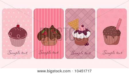 Set of Cupcakes Banners
