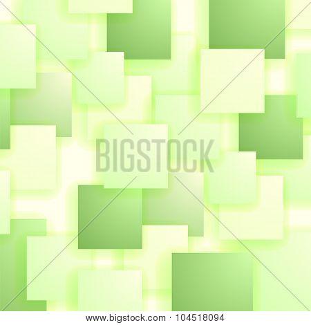 Set of Green Squares. Squares Pattern