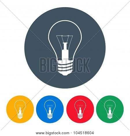 Set Bulbs Icons On The White Background. Stock Vector Illustration Eps10