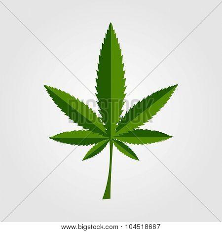 Green cannabis leaf icon design. Vector background