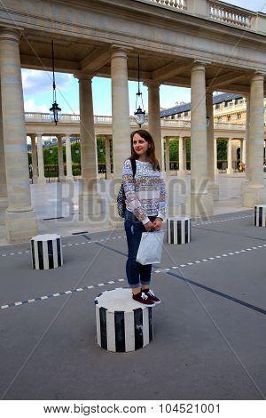 Student Girl Having Fun In The City