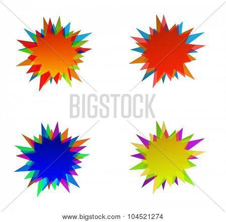 starburst splash star colored icon