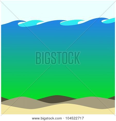 Salty Waters Beach Background Ecosystem Artwork