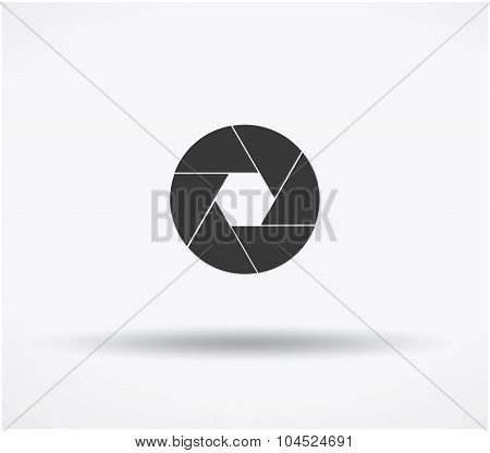 Gray Shutter Icon Isolated