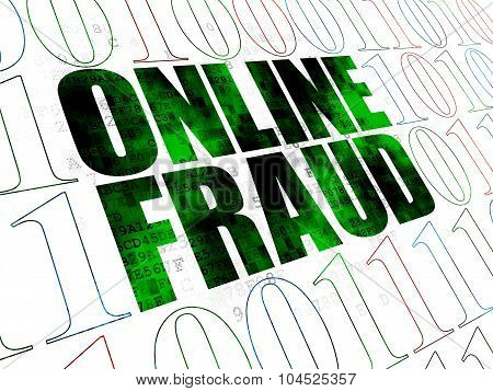 Privacy concept: Online Fraud on Digital background