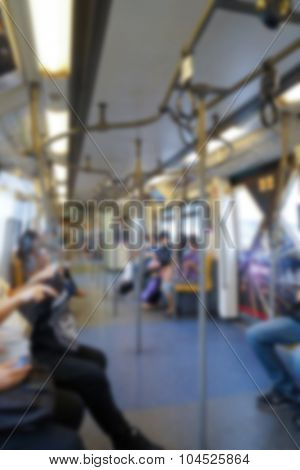 Abstract blur subway train