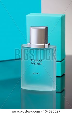 MIAMI, USA - March 24, 2015: A bottle of Tiffany for Men.