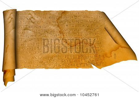 Old scroll with antique signs