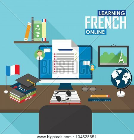 E-learning French language.