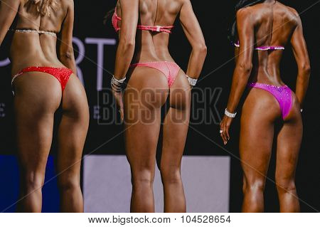 competition fitness bikini woman