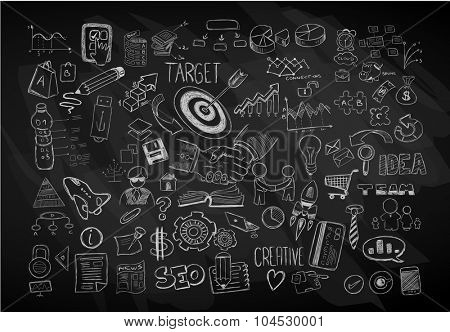 Modern Abstract background with hand drawn doodle sketches  for Flyer Designs, Brochure layouts, Business Card templates, Website wallpapers, Magazine Covers or presentations.