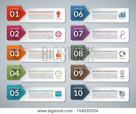 Infographic design template set
