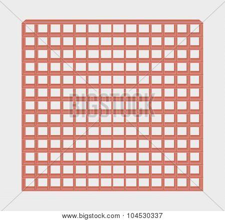 Red Jail Bars