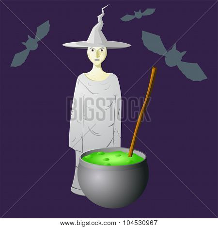 Wicked Witch Hat Brews A Potion