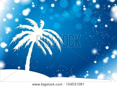 Palm Silhouette with Anomaly Winter Storm