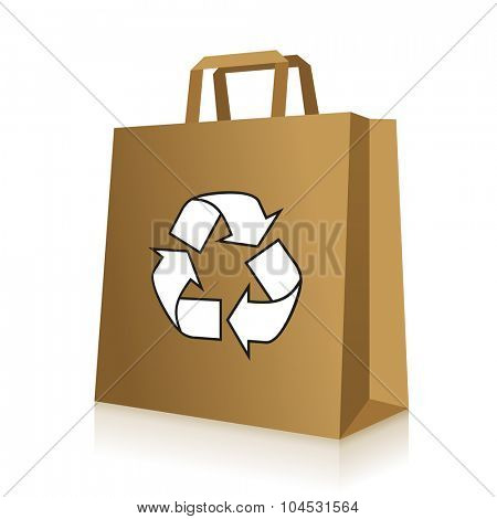 Recycled paper bag icon