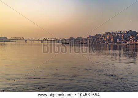 Railway Bridge At River
