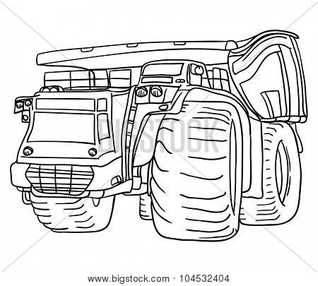 vector - big truck - isolated on background