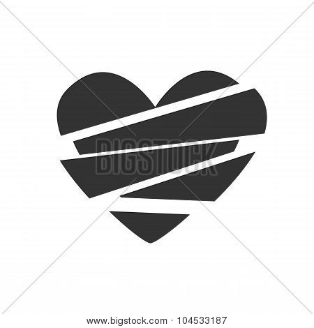 Vector icon broken heart