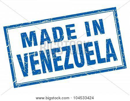 Venezuela Blue Square Grunge Made In Stamp