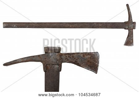old tool pickaxe