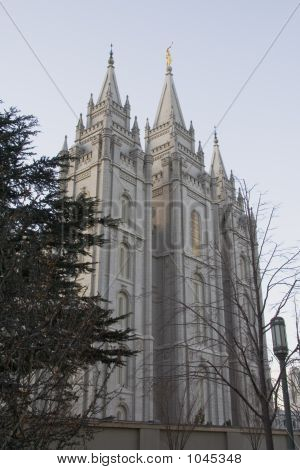 Salt Lake Temple East Side From South