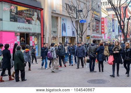 Shopping paradise in Seoul, South Korea