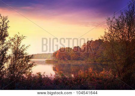 Elk Lake in autumn