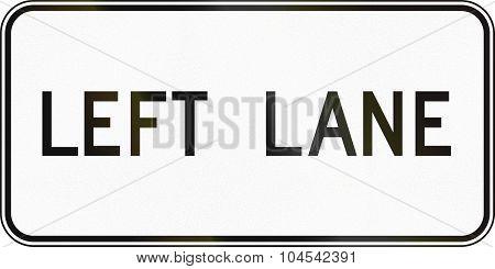 Left Lane In Canada