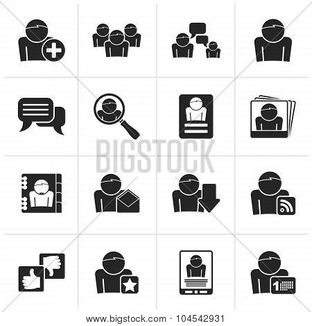 Black Social Media and Network icons