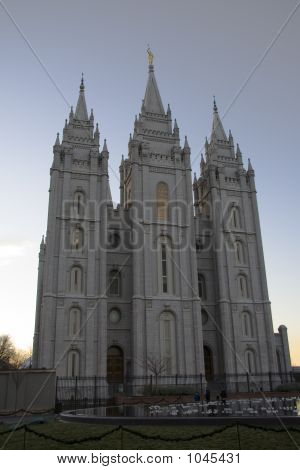 Salt Lake Temple East Side And Lawn