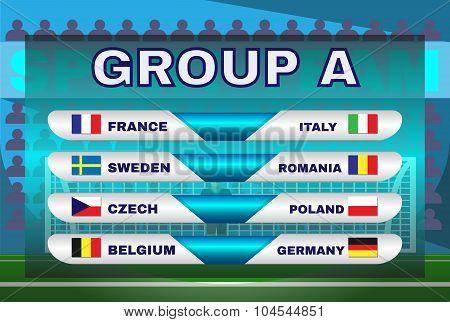 Group A Soccer Scoreboard
