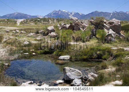 Hot springs at mammoth