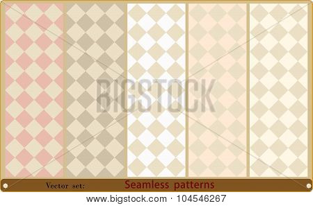 Set of seamless geometric patterns.