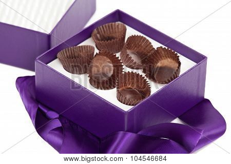 Empty box of fine chocolates